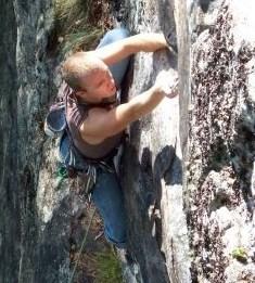 Chris P. climbing