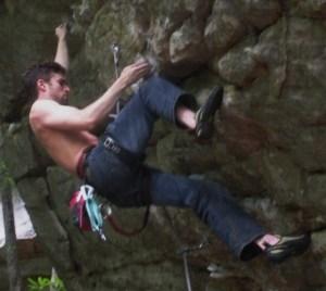 Alex climbing DC Memorial