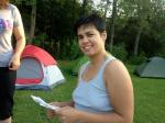 dinah at campground