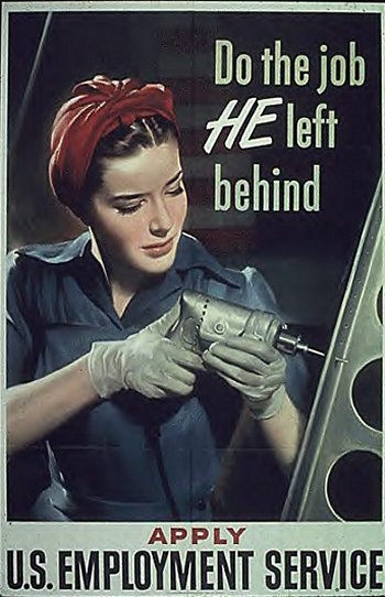 Do the Job He Left Behind WW2 poster