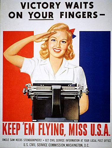 Victory waits on your fingers WW2 poster