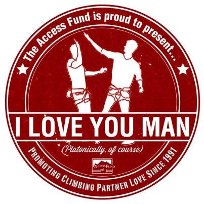 The Access Fund's Valentine's Day Sticker